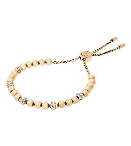 MICHAEL KORS Gold-toned stainless steel slider bracelet