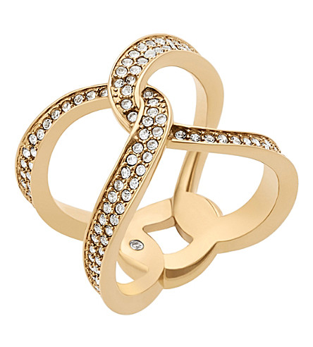 MICHAEL KORS Brilliance gold-plated pavé ring
