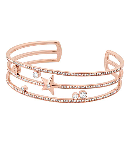 MICHAEL KORS Brilliance Star stainless steel rose-gold cuff bracelet
