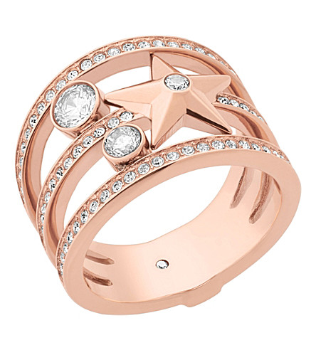 MICHAEL KORS Celestial rose gold-toned ring