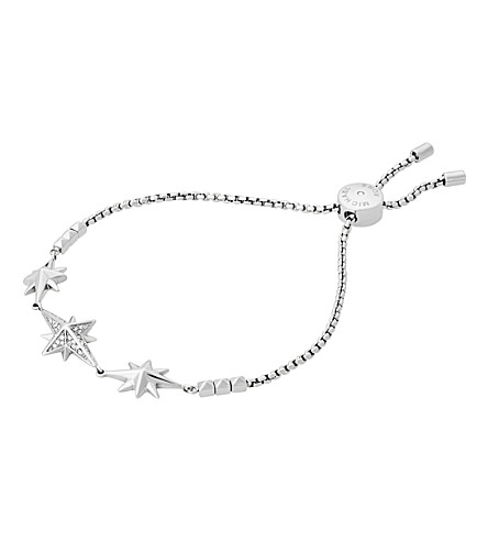 MICHAEL KORS Star silver-toned cubic zirconia bracelet