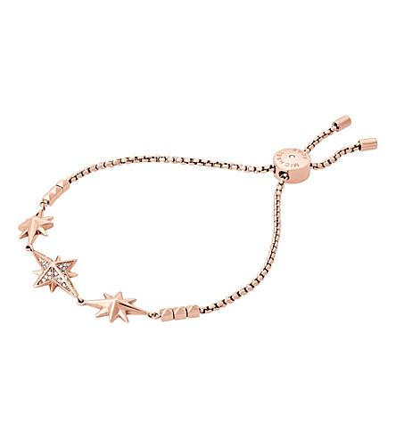 MICHAEL KORS Star rose gold-toned cubic zirconia bracelet