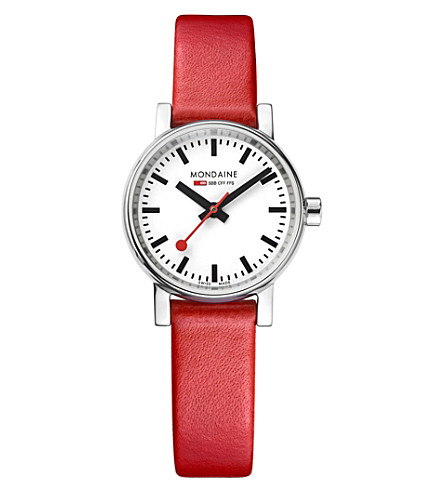 MONDAINE MSE-26110-LC evo2 Petite leather and stainless steel watch