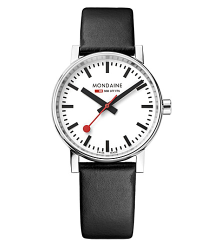 MSE-35110-LB evo2 leather and stainless steel watch