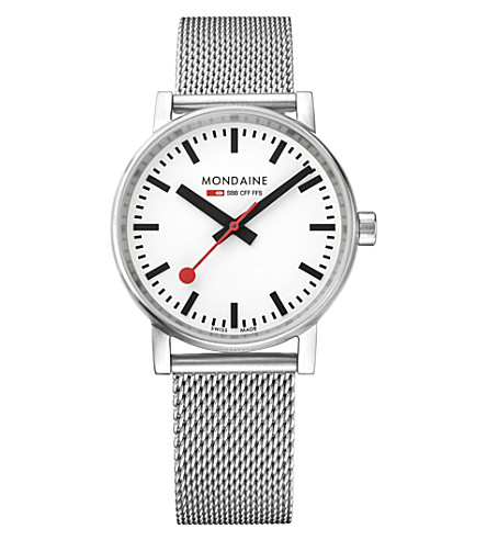 MONDAINE MSE-35110-SM evo2 stainless steel watch