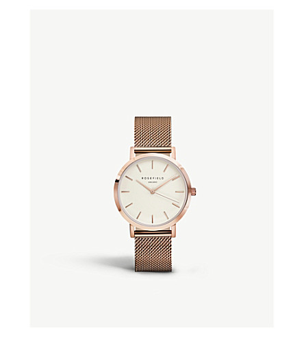 ROSEFIELD MWR-M42 Mercer PVD rose gold-plated watch