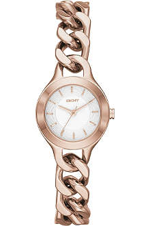 DKNY NY2214 Chambers rose gold-toned PVD watch
