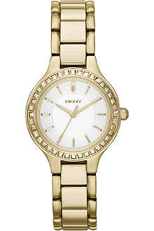 DKNY NY2221 Chambers gold-plated PVD watch