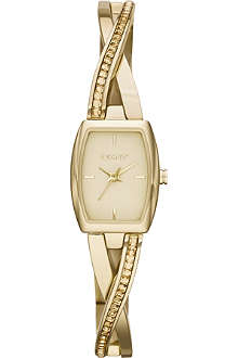 DKNY NY2237 Crosswalk gold-toned PVD watch
