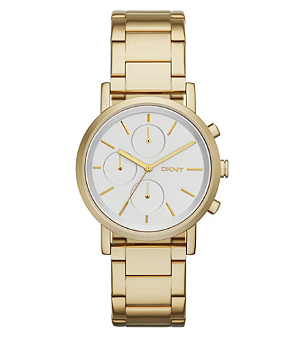 DKNY NY2274 Soho gold-plated watch (Silvery+white