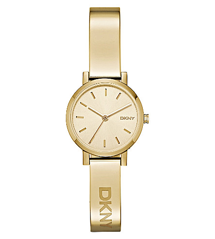 DKNY NY2307 Soho yellow gold-plated bracelet watch (Gold