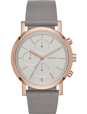 DKNY NY2338 Soho rose-gold plated stainless steel chronograph watch