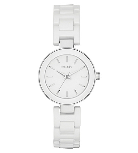 DKNY NY2354 Stanhope stainless steel watch (White