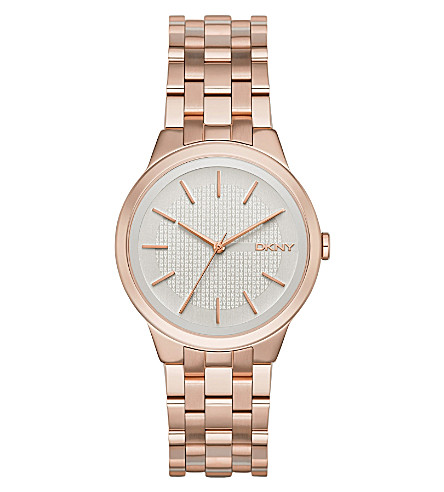 DKNY NY2383 Park Slope rose gold-plated watch (White
