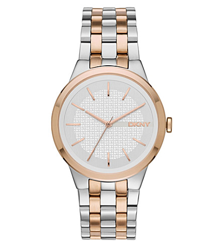 DKNY NY2464 park slope stainless steel watch (Silver