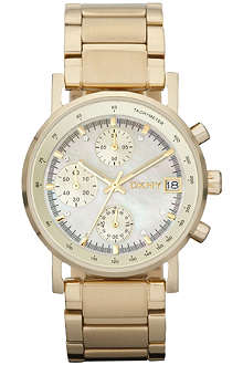 DKNY NY4332 gold-plated stainless steel chronograph watch