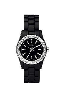 DKNY NY8146 stone-set black watch