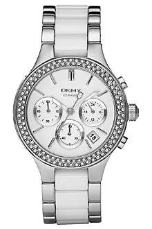 DKNY NY8181 stainless steel and ceramic chronograph watch