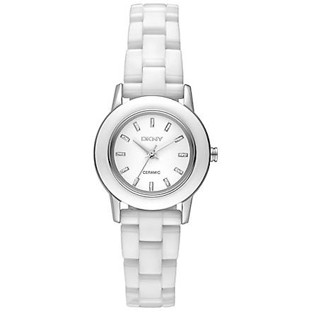 DKNY Ceramix white ladies' watch (White