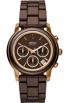 DKNY NY8430 ceramic chronograph watch