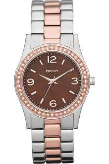 DKNY NY8479 stainless steel and rose gold-plated watch