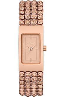DKNY NY8560 rose gold-plated watch