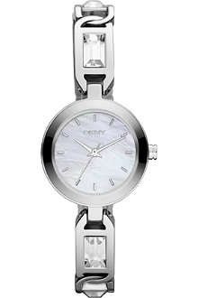 DKNY NY8617 silver-plated watch