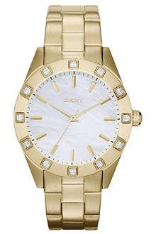 DKNY NY8661 gold-toned watch