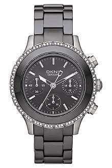 DKNY NY8671 ceramic chronograph watch
