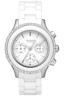 DKNY NY8672 ceramic chronograph watch