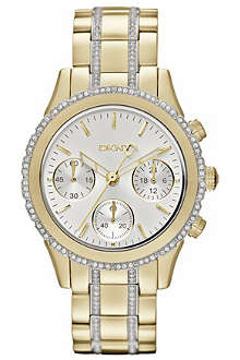 DKNY NY8707 stainless steel and gold-plated chronograph watch
