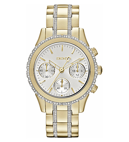 DKNY NY8707 stainless steel and gold-plated chronograph watch (Silver