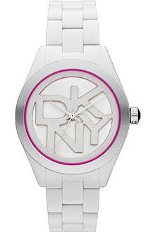 DKNY NY8752 Colour Burst steel and cermaic watch