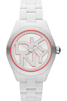 DKNY NY8753 Colour Burst steel and cermaic watch