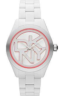 DKNY NY8753 Colour Burst steel and resin watch