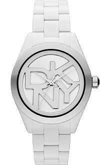 DKNY NY8754 steel and resin watch