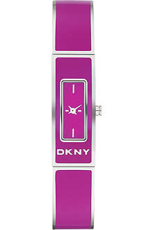 DKNY NY8759 Colour Burst steel and enamel bracelet watch