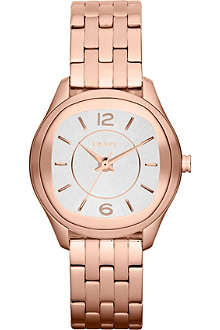 DKNY NY8807 glitz rose-gold toned watch
