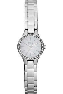 DKNY NY8810 glitz stainless steel watch