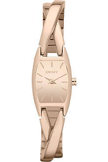DKNY NY8874 Crossover rose gold-toned watch