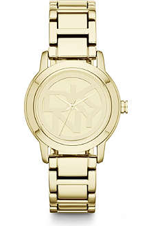 DKNY NY8876 Park Avenue gold-plated watch