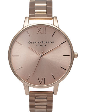 OLIVIA BURTON OB13BL07B big dial rose gold-toned watch