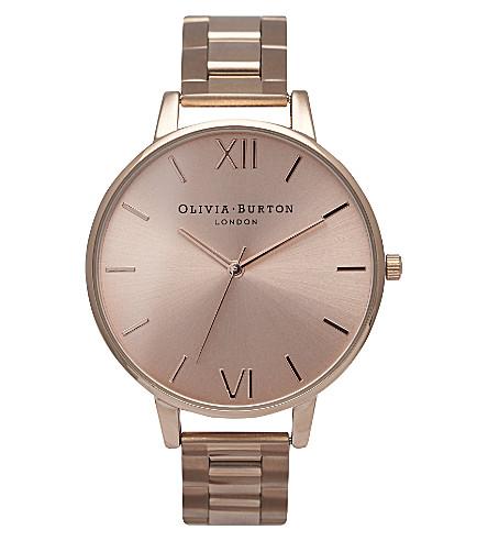 OLIVIA BURTON OB13BL07B 大表盘玫瑰金色色调手表 (黄金
