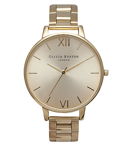 OLIVIA BURTON OB13BL08B big dial gold-plated watch (Gold