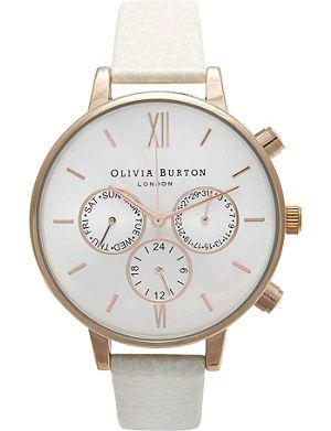OLIVIA BURTON OB13CG01C rose gold-plated big dial chrono watch