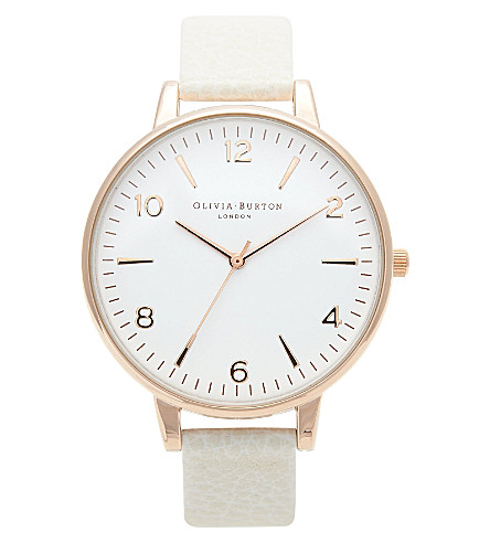OLIVIA BURTON OB13MV07 Big Dial rose gold-plated watch (White