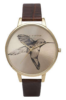 OLIVIA BURTON Ladies 'Woodland' bird print watch