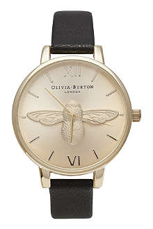 OLIVIA BURTON Ladies 'Woodland' moulded bee watch