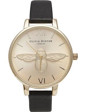 OLIVIA BURTON Ladies 'Woodland' moulded bee watch