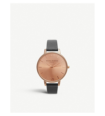 OLIVIA BURTON Ladies big rose gold dial watch (Gold